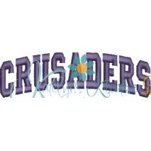 Crusaders Arched 4x4 Satin Snap Shot