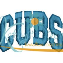 Cubs Arched 4x4 Satin Snap Shot