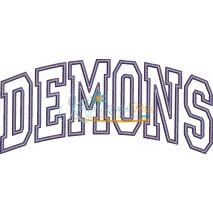 Demons Arched Applique Snap Shot