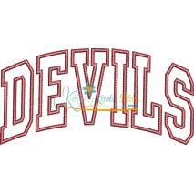 Devils Arched Applique Snap Shot