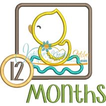 Duck Applique Frame Months Snap Shot