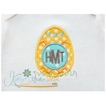 Egg Monogram Applique
