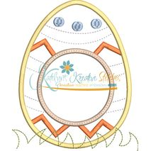 Egg Monogram Applique Snap Shot