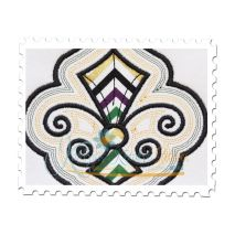 Fleur de Lis Applique with Offsets Close Up
