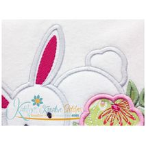 Flower Bunny Applique Close Up