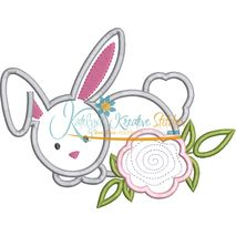 Flower Bunny Applique Snap Shot