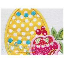 Flower Egg Applique Close Up