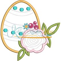 Flower Egg Applique Snap Shot