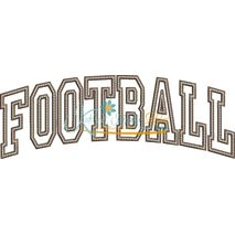 Football Arched Applique Snap Shot