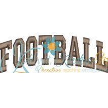 Football Arched 4x4 Satin Snap Shot