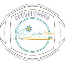 Football Monogram Redwork Snap Shot