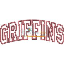 Griffins Arched Applique Snap Shot