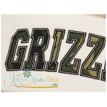 Grizzlies Arched Applique Close Up