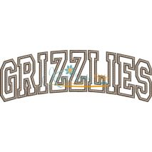 Grizzlies Arched Applique Snap Shot