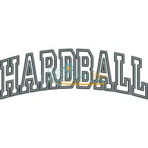Hardball Arched Applique Snap Shot