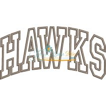 Hawks Arched Applique Snap Shot