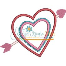 Heart and Arrow Applique Snap Shot