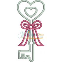 Heart Key Applique (5x7 and 6x10 versions only)