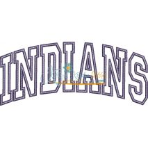 Indians Arched Applique Snap Shot