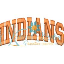 Indians Arched 4x4 Satin Snap Shot