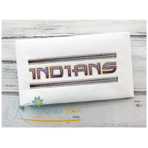 "Indians Kreative Text Shown in the 1""  (6x10 Hoop)"
