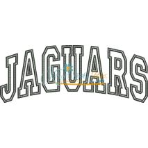 Jaguars Arched Applique Snap Shot