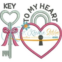 Key to My Heart Applique Snap Shot