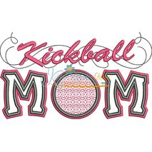 Kickball Mom Applique with a Twist Snap Shot