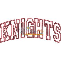Knights Arched Applique Snap Shot