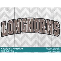 Longhorns Arched SVG