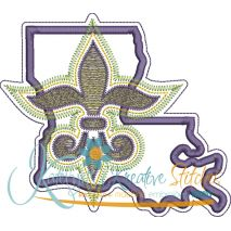 Louisiana Mardi Gras Applique Snap Shot