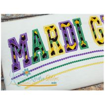 Mardi Gras Applique Arched Close Up
