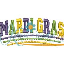Mardi Gras Satin Arched Snap Shot