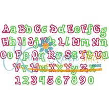 Fun and Funky Applique Font 2 Snap Shot