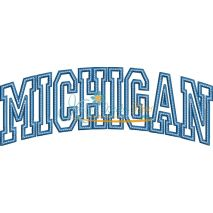 Michigan Arched Applique Snap Shot