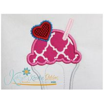 Milkshake Applique Close Up