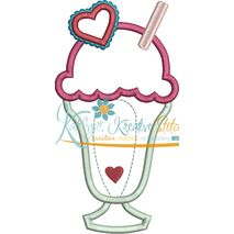 Milkshake Applique Snap Shot