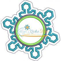 Monogram Snowflake Snap Shot