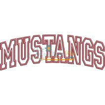Mustangs Arched Applique Snap Shot