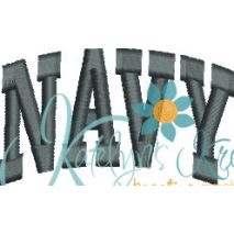 Navy Arched 4x4 Snap Shot