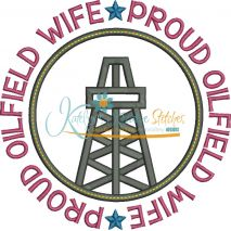 Proud Oilfield Wife Applique Circle Snap Shot