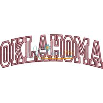 Oklahoma Arched Applique Snap Shot