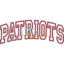 Patriots Arched Satin Snap Shot