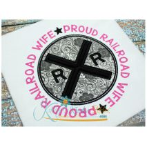 Proud Railroad Wife Applique Circle