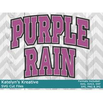 Purple Rain Arched SVG
