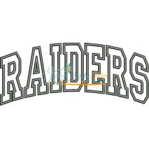 Raiders Arched Applique Snap Shot