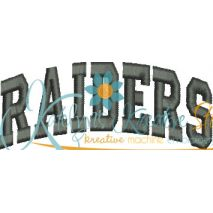 Raiders Arched 4x4 Satin Snap Shot