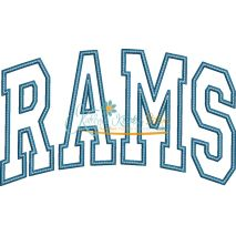 Rams Arched Applique Snap Shot