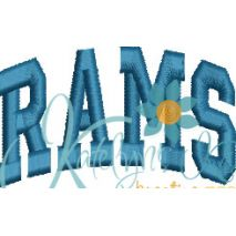 Rams Arched 4x4 Satin Snap Shot