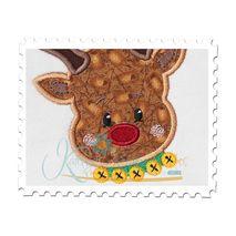 Reindeer Head Applique 2 Close Up